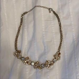 Jewelry - Rhinestone and tan necklace